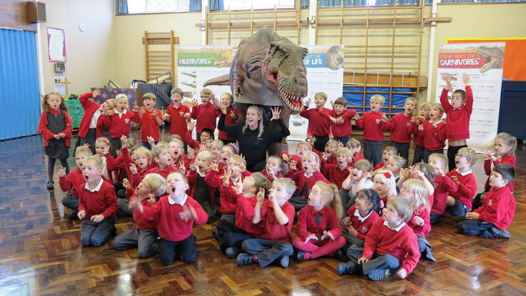 Sophie the T-Rex with Year 1 & Year 2